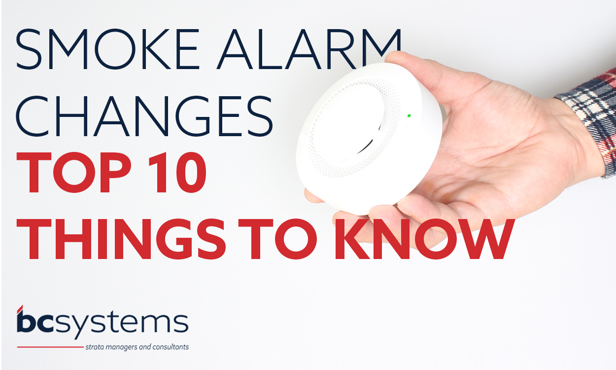 Smoke alarms changes for body corporate properties